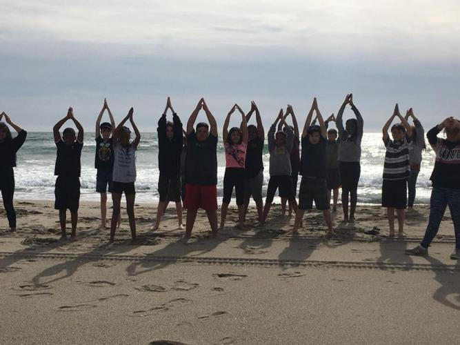 "6th grade ""Yogamotives"" at Camp Sea Lab, Santa Cruz, CA"